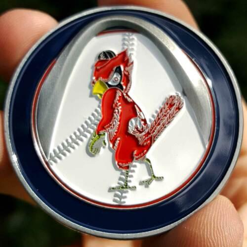 PREMIUM MLB Throwback St. Louis Cardinals Poker Chip Card Guard Golf Marker Coin