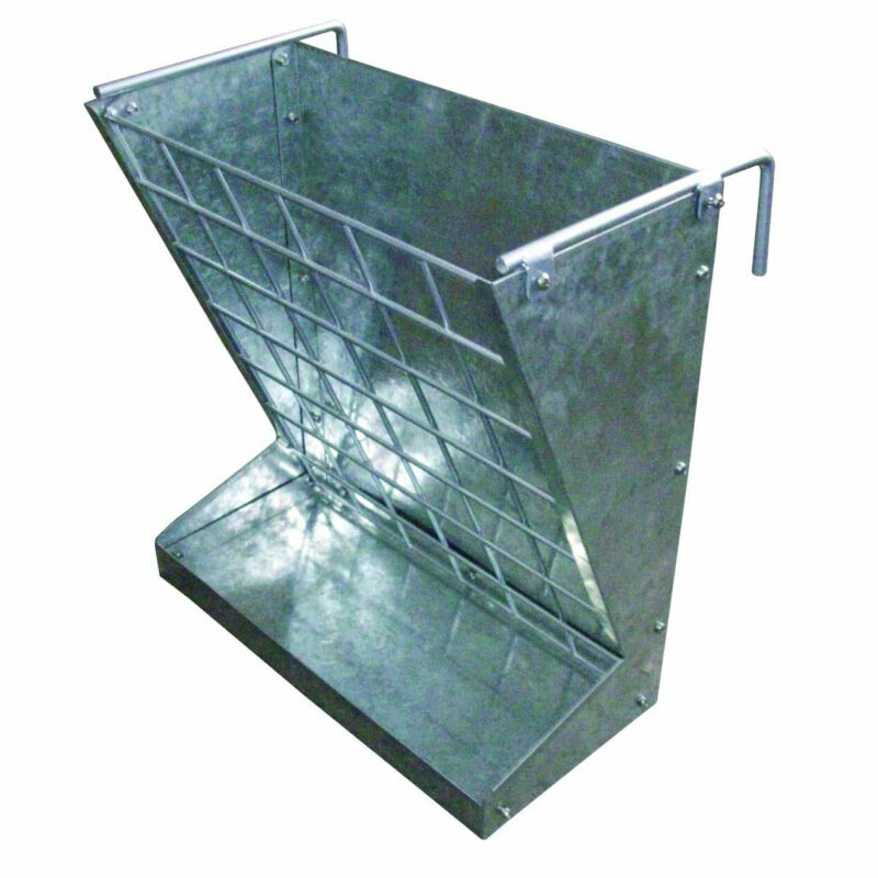 Little Giant Classic Heavy-Duty Galvanized Metal 2-in-1 Goat and Sheep Feeder