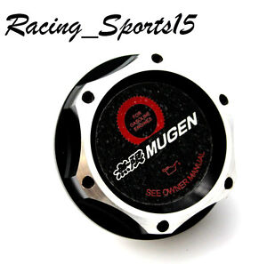 JDM MUGEN HONDA /ACURA BLACK BILLET ENGINE OIL CAP CIVIC ACCORD S2000 INTEGRA