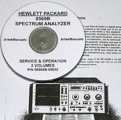 Hewlett Packard 3-vol Operating Service Manual For 8569b Spectrum Analyzer