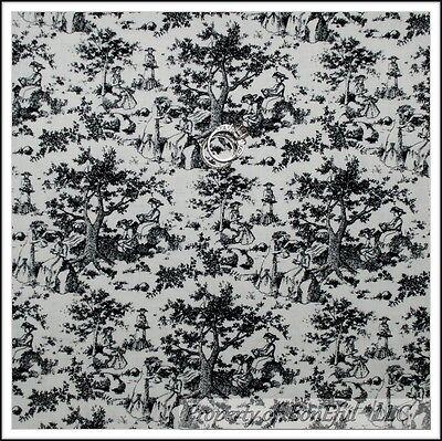 BonEful Fabric FQ Cotton Quilt Blue Rose Flower Small Calico Toile Tone Tonal US