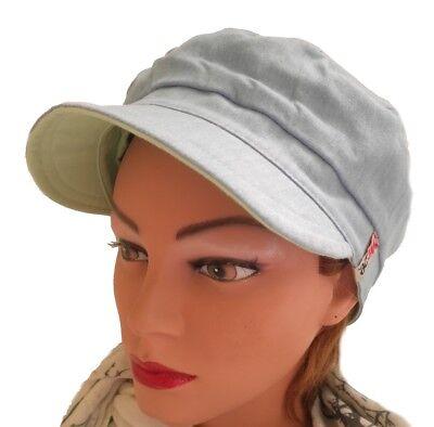 Mujer Gorra de Visera Gorra de Lino Reversible Gorra con Verano Gorra...