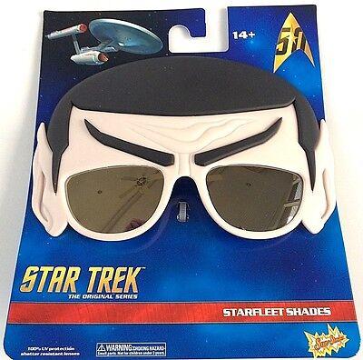 Funny STAR TREK SPOCK SUNGLASSES TV Series Cartoon Hair Mask Adult Joke Gag Ear  (Star Trek Cartoon)