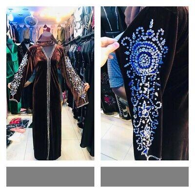 Latest Design Velvet Abaya Kaftan Farasha  Maxi jilbab jalabiya burkha Robe