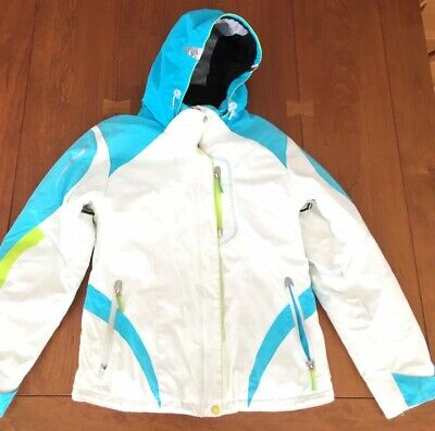 Junior Girls Ski Jacket - Obermeyer Jacket Girls Junior Size 18 Ski Snowboard Hooded White Aqua Lime