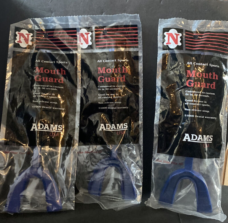 Adams Adult Mouth Guard - Good for all Sports - Lot of 3 - Navy Blue
