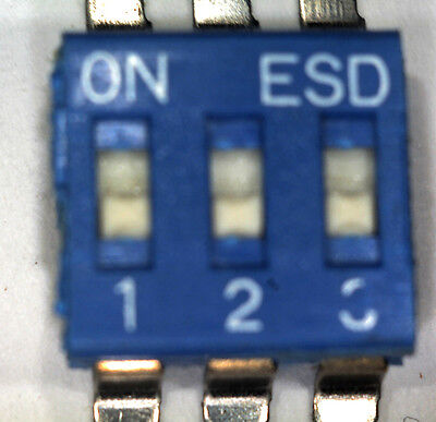 Pack Of 20 3 Way Smd Esd Dip Switches Esd103