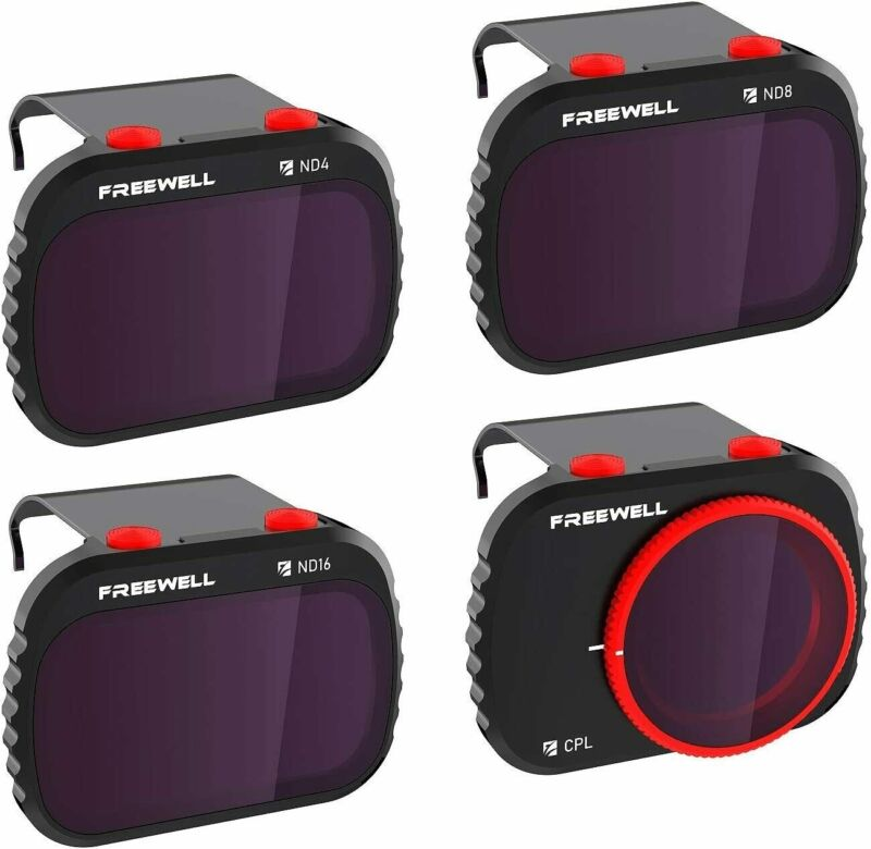 Freewell Standard Day - 4K Series - 4Pack Filters Compatible with Mavic Mini Dro