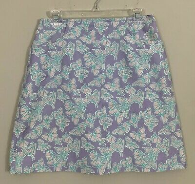 - Lilly Pulitzer Butterfly A-Line Skirt with Pockets Pastel Purple Lavender Sz 10