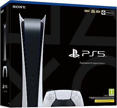 "Sony PS5 Digital Edition Console - White ""NEW IN BOX SHIPPING SAME DAY!!!"" 🔥🔥"