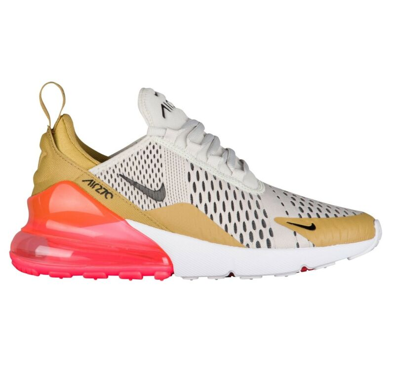 97544e80ad7740 Nike Air Max 270 Flight Gold Womens AH6789-700 Bone Punch Running Shoes  Size 9.5