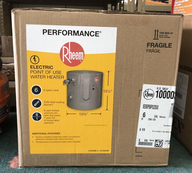 Rheem Performance 6 gal. 2000-Watt Electric Point-Of-Use Water Heater