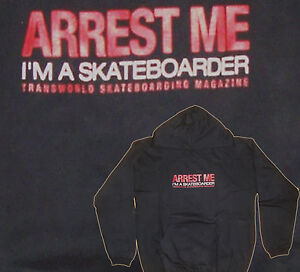 Arrest-Me-I-039-m-A-SKATEBOARDER-Skate-Con-Capucha-SUDADERA-NEGRO-112cm
