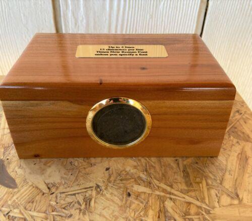 Medium Pet Cremation Urn Picture Urn Brass Plaque