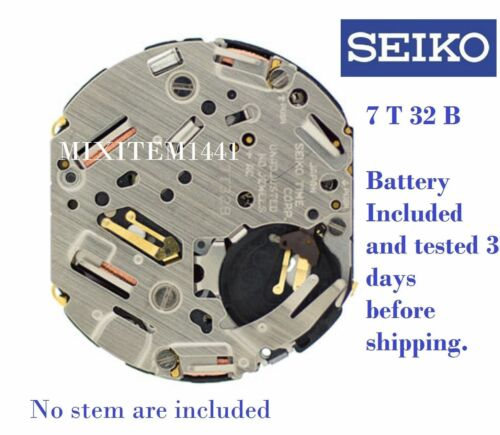 Movement (NEW) SEIKO, Caliber 7 T 32B Chrono Alarm VERY Hard to Find Watch Part