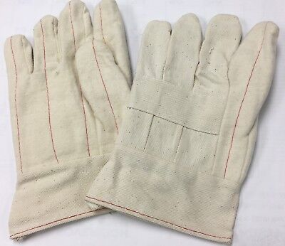 6 Pair Of Magid Heater Beater Cotton Hot Mill Gloves With Band Top Cuff 95kbt