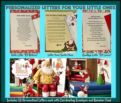 Personalize Letters from Elf on the shelf Santa Claus and Reindeer Food  - Elf From Santa Claus