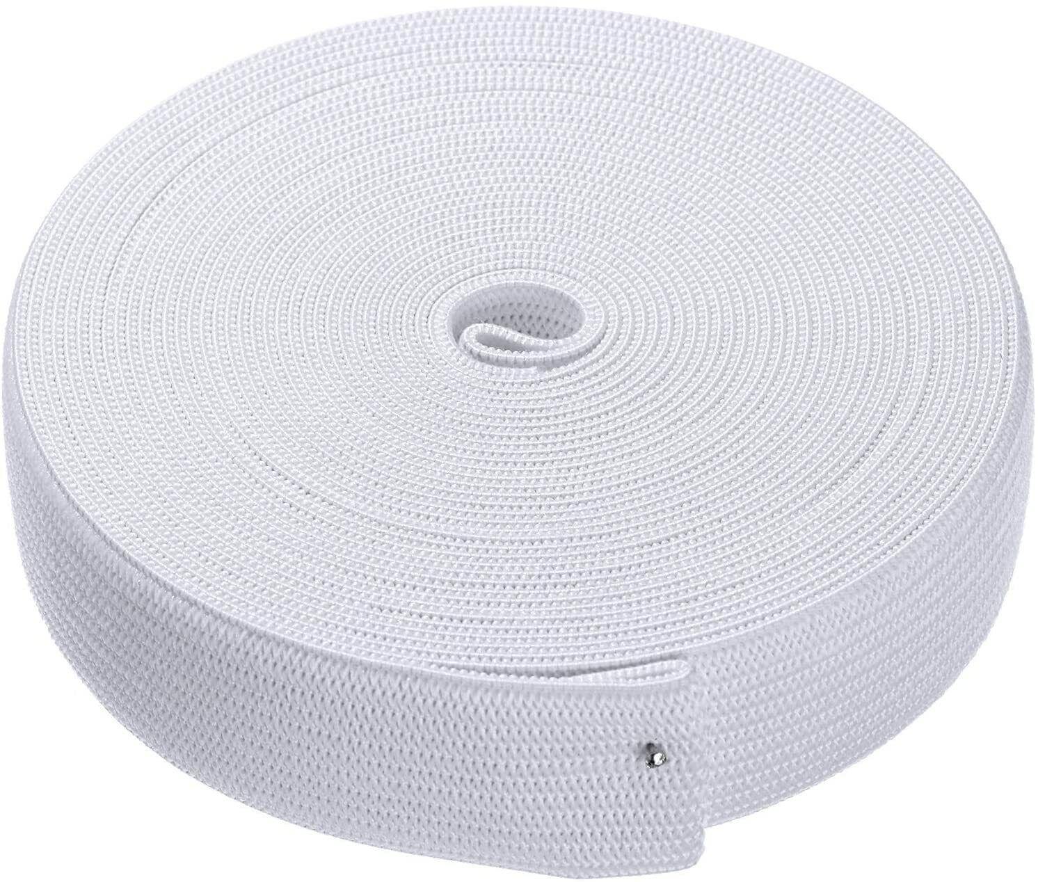 10m/3m Gummiband,  Gummilitze,  Wäschegummi,  Hosengummi Weiß 2, 5cm NR