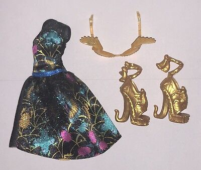 Monster High Garden Ghouls Cleo de Nile Doll Outfit Dress Shoes Sunglasses NEW