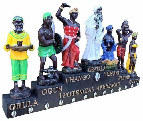 """Las Siete Potencias Africanas 7"""" , Seven  African Power Orisha  7""""Statue - 6532"""