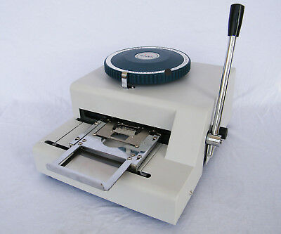 Manual Dog Tags Emboss Machine Metal Sheet Id Card Embosser Stamping Machine