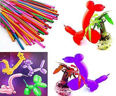 100 Modellierballon Luftballons Max 100cm Lang Hochzeit Kindergeburtstag NEUWARE