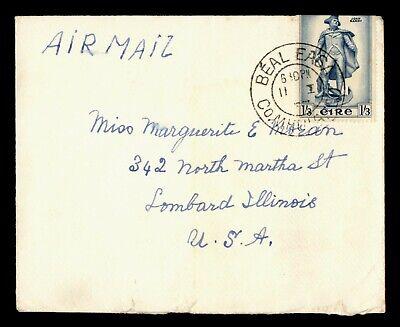 DR WHO 1937 IRELAND BEAL EASA AIRMAIL TO USA  g19751