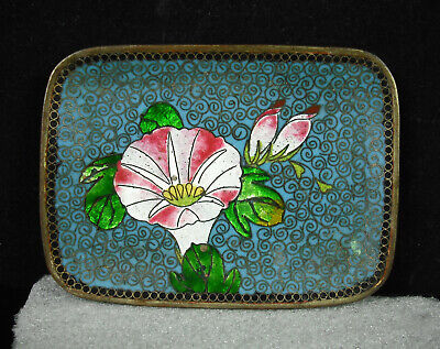 Empty Pocket or Cup Copper Enamelled Asian China c1950 Enameld Cup