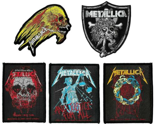 Metallica Wherever I May Roam + Raiders + and Justice for All Patch Lot of 5