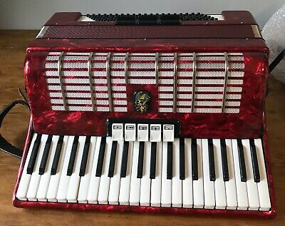 Vintage Weltmeister Piano Accordion Germany -120 bass Accordian