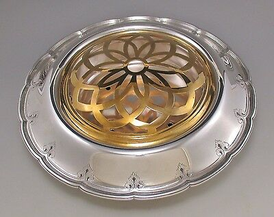 Elegant Tiffany & Co Sterling Silver Center Bowl with Orig Insert & Flower Frog