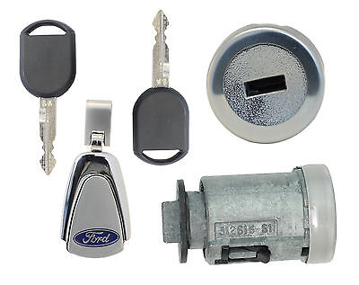 Ford Focus 2006-2011 Ignition Lock Cylinder With 2 Transponder Keys + Keychain