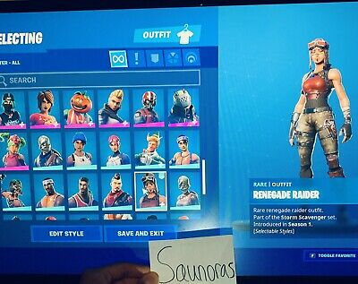 Renegade Raider, Galaxy, 200+ Skins (Stacked)