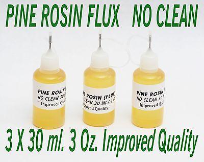 90 Ml. New Needle Tip Bottle Rosin No Clean Soldering Solder Liquid Flux Reflow
