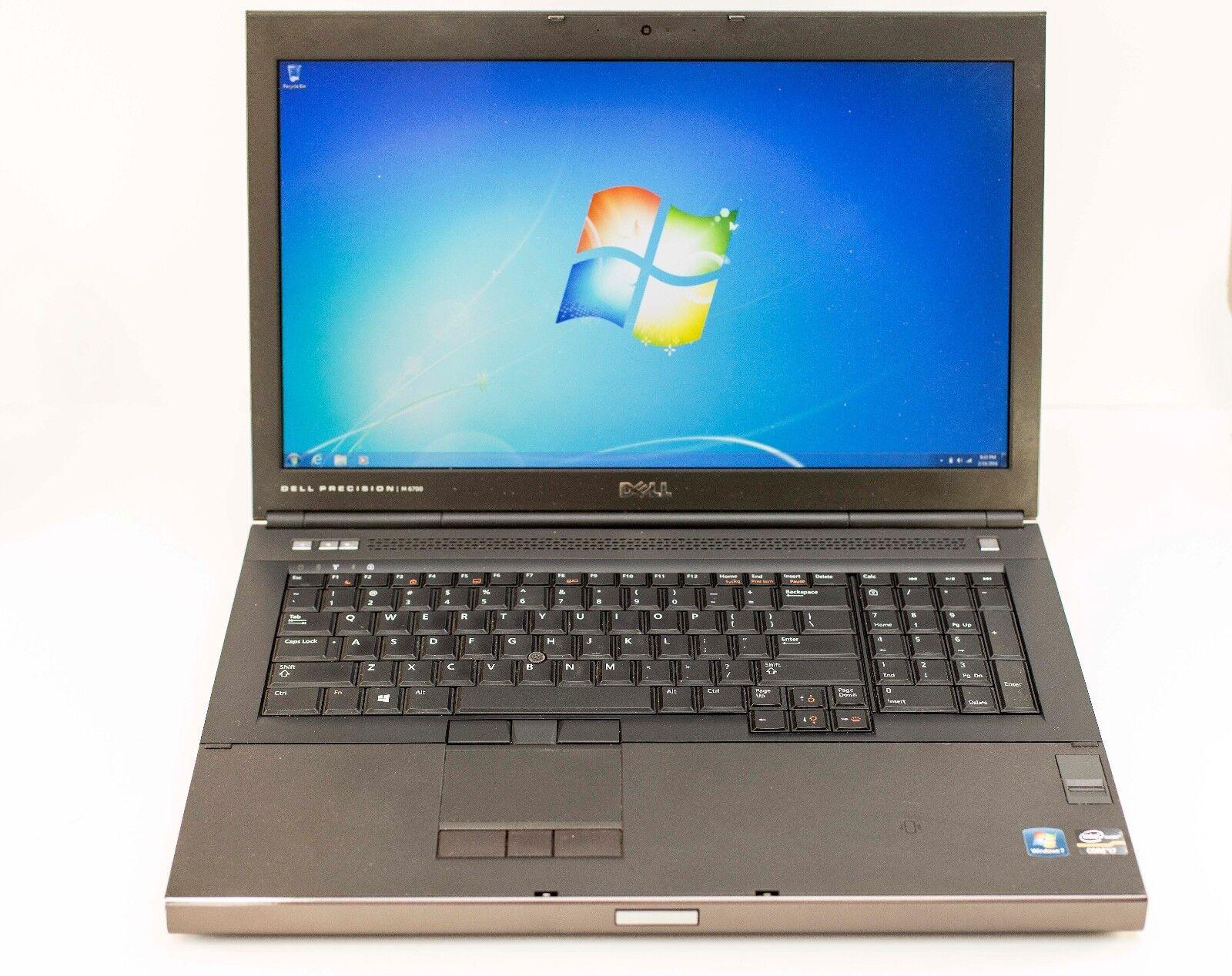 "Dell Precision M6700 17"" i7-3740QM 2.7GHz 16GB 180GB SSD K4000m Gaming W7 Laptop"