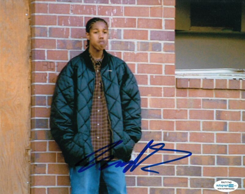 MICHAEL B JORDAN signed (THE WIRE) TV SHOW 8X10 photo *Wallace* ACOA #2