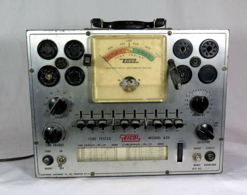 Vintage EICO 625 TUBE TESTER #2 - Lights Up, Dial Centers, etc.