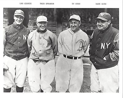 LOU GEHRIG SPEAKER TY COBB BABE RUTH 8X10 PHOTO YANKEES NY BASEBALL PICTURE MLB for sale  Rochester