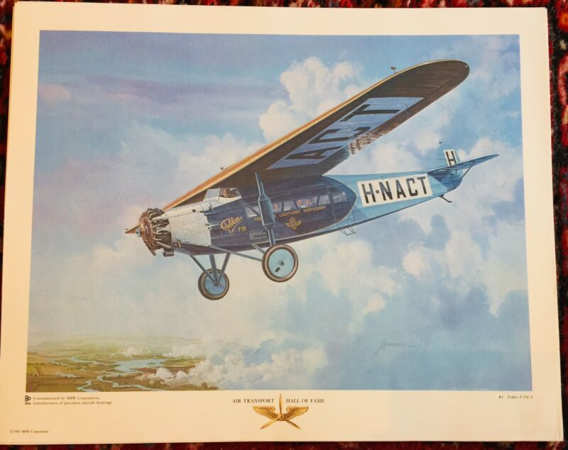 Fokkar F-VII A Poster/Print, Air Transport Hall Of Fame