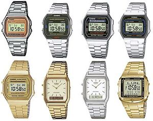 Casio-Retro-Digital-Alarm-Stopwatch-Chronograph-Silver-Gold-Gents-Watches