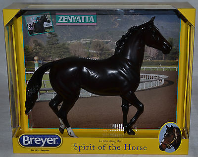 Breyer~Zenyatta~Dark Bay Lonesome Glory~Racehorse~LOOK~NEW