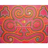 c.1900 Antique San Blas Islands Panama fabric mola textile abstract art