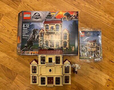 USED LEGO JURASSIC WORLD 75930 - INDORAPTOR RAMPAGE AT LOCKWOOD ESTATE - NO DINO