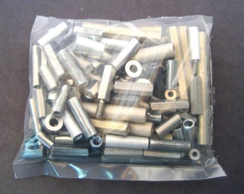 Metal Spacers/Standoffs Assortment Kit: 104 Pieces: Great Value: Retails $80+
