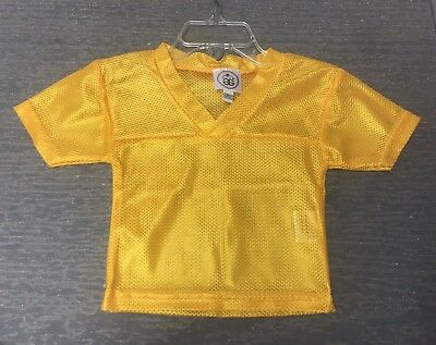 Blank Spirit Jersey (Infants 12 Months Blank Gold Halloween Costume Football Spirit Jersey)