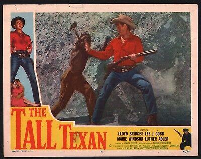 TALL TEXAN 2 Lobby Cards (Good+) 1953 Lloyd Bridges Western Cowboy 15561