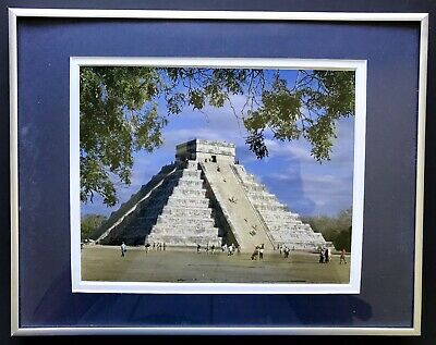 Framed & Matted Print - Mayan Temple Chichen Itza, Yucatán, Mexico Chichen Itza Mexico Framed