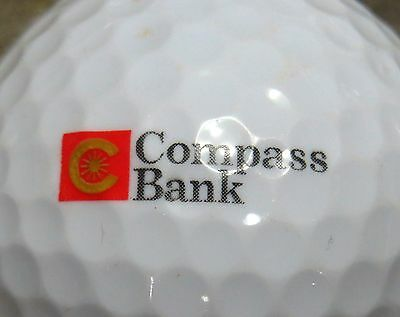1  Compass Bank Logo Golf Ball