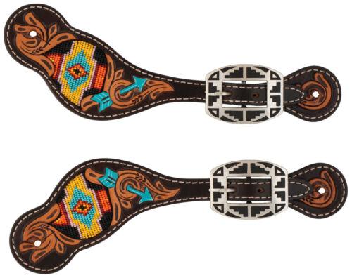 Weaver Leather Turquoise Cross Carved Navajo Arrow Beaded, Ladies,45500-53