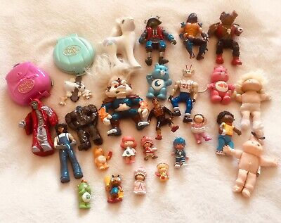 Bundle Lot Of 1980s And 90s Vintage Retro Toys Care Bears Polly Pocket He-man